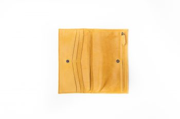 Ester mustard italian leather tiny bag wallet phone case handmade in our store Barcelona