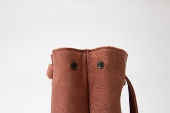Victoria small handmade vegetable tanned leather bag 3 in 1, Barcelona