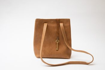 Victoria small vegetable tanned leather bag 3 in 1, Barcelona
