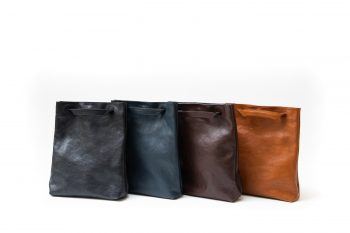 Victoria collection handmade vegetable tanned leather bag in Barcelona
