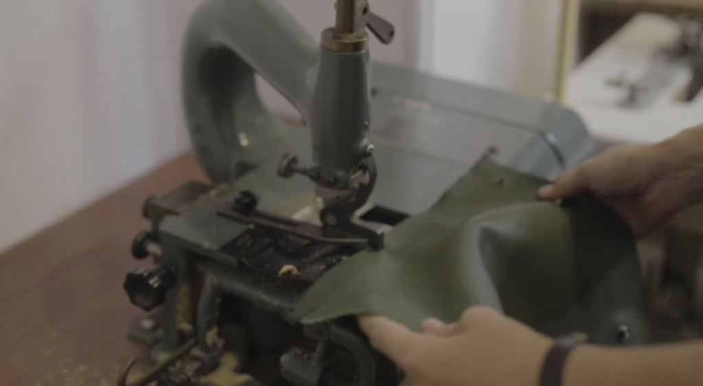 skiving leather machine | Bonenfant Atelier