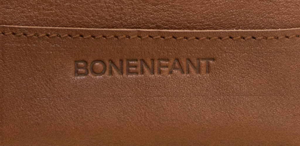 custom leather embossed | Bonenfant Atelier